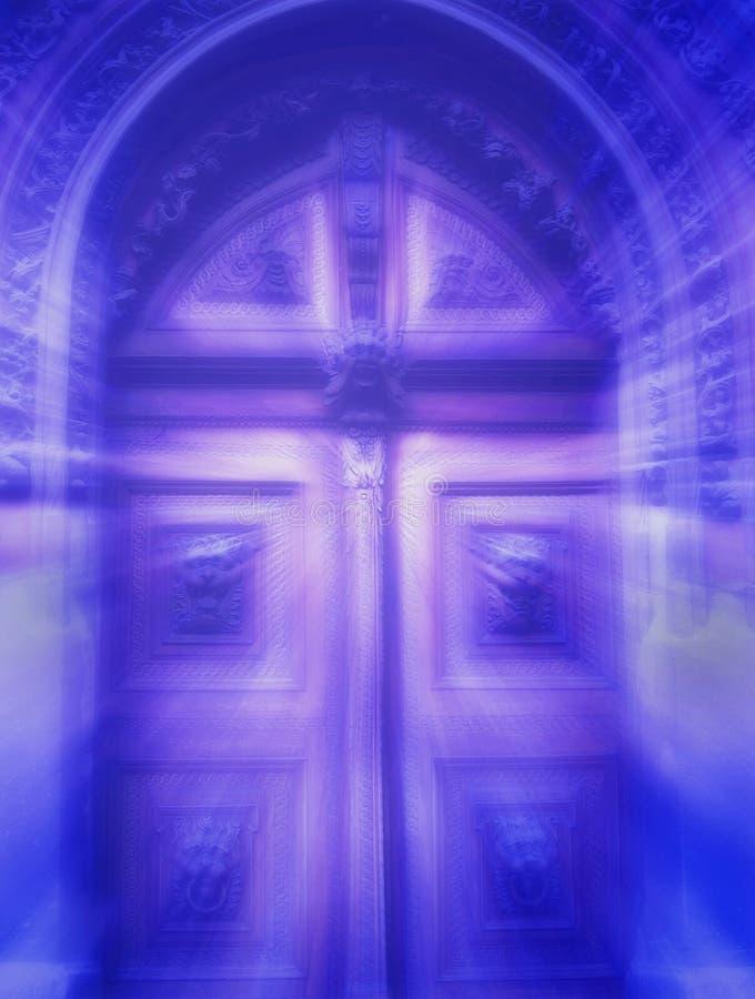 Mystieke deur royalty-vrije stock foto