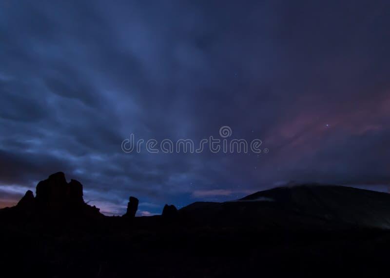 Mystieke Nacht in Tenerife stock foto