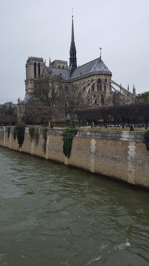 Mystieke Notre een Damekerk stock fotografie