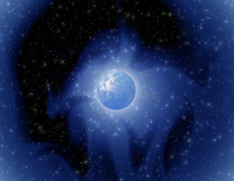 Mystieke planeet royalty-vrije illustratie