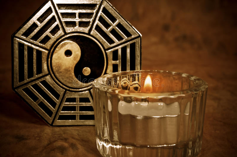 Mystieke yin yang stock foto