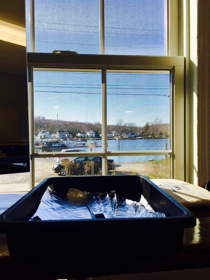 Mystiker fällt Neu-England Hafen stockfotos