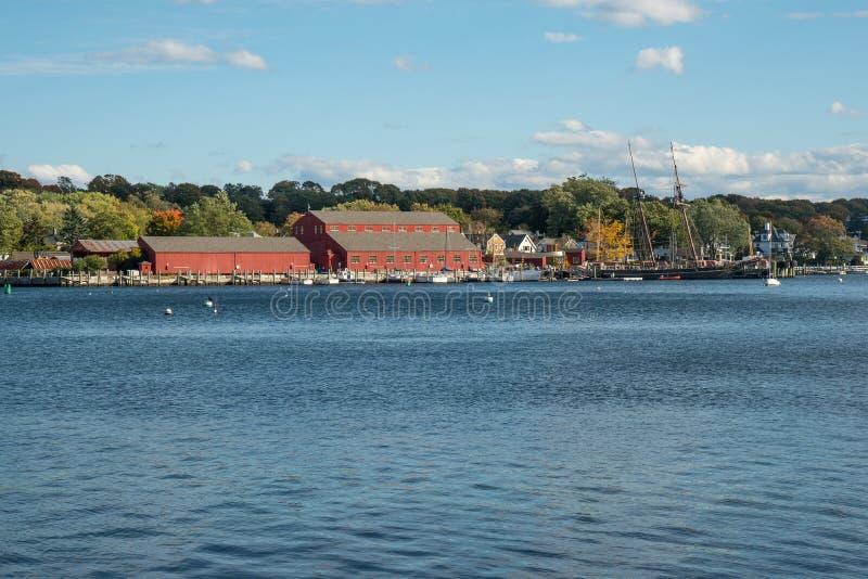 Mystikerhamnstad, Connecticut fotografering för bildbyråer