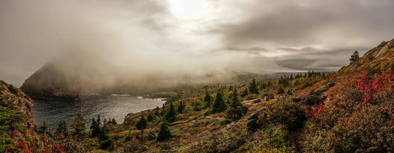 Mystikerlandskap i Kanada royaltyfri foto