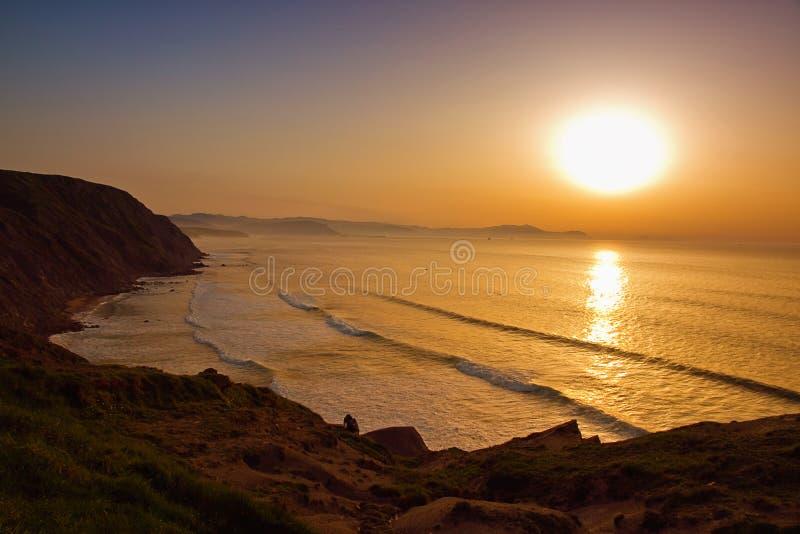 Mystische baskische Küste stockfoto
