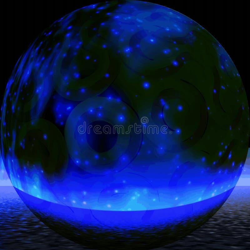 Mystische blaue Kugel stock abbildung