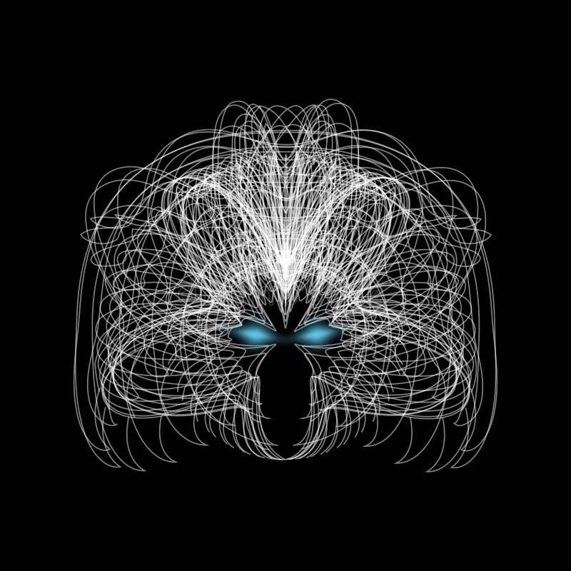 Mystische Illustration eines Gesichtes Auszug Auch im corel abgehobenen Betrag vektor abbildung