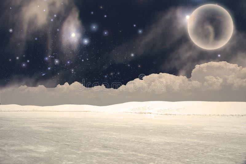 Mystische Landschaft stock abbildung