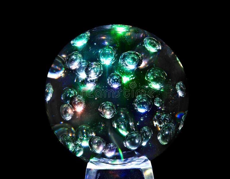 Mystische magische Glaskugelkugel. lizenzfreie stockfotografie