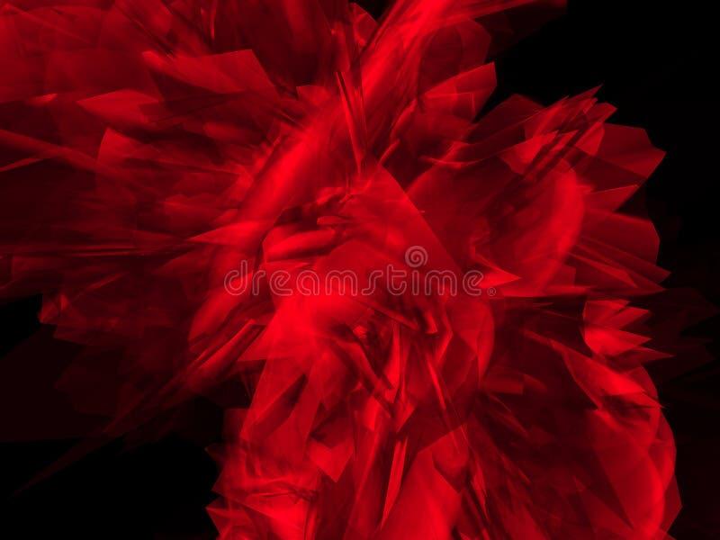 Mystische rote Form stock abbildung