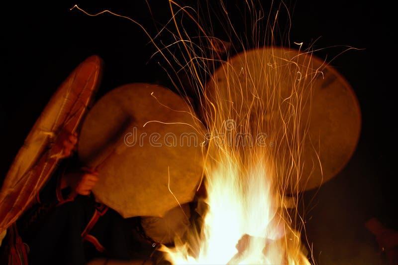 Mystische Zeremonie der Chukchi-Leute lizenzfreies stockfoto