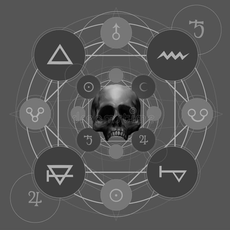 Mystischer Pentacle lizenzfreie abbildung