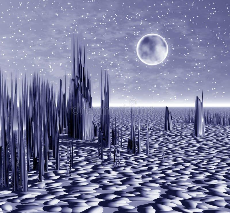 Mystischer Planet. Platznacht vektor abbildung