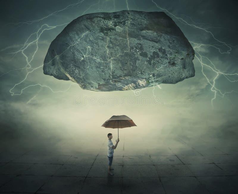 Mystischer Regenschirmschutz lizenzfreies stockbild