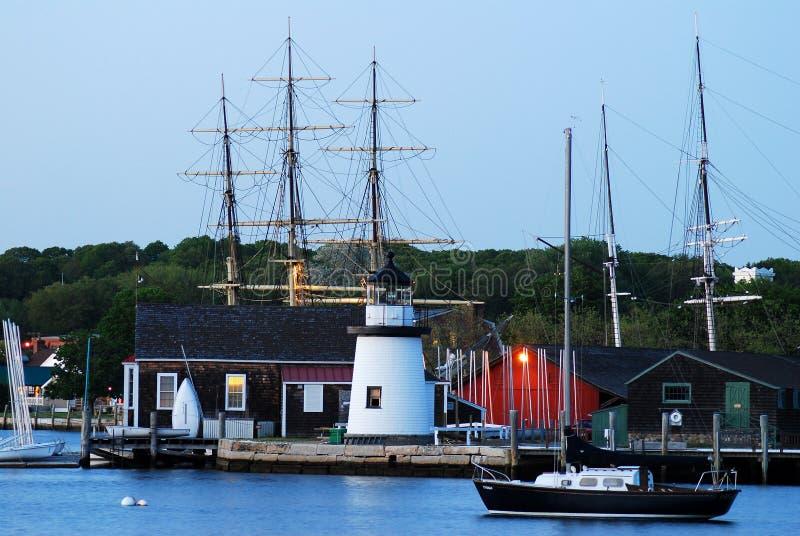 Mystischer Seehafen, Connecticut lizenzfreies stockbild