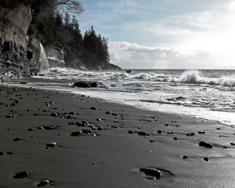Mystischer Strand, Vancouver Island BC Kanada lizenzfreie stockbilder