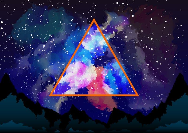 Mystisches Dreieck lizenzfreie abbildung