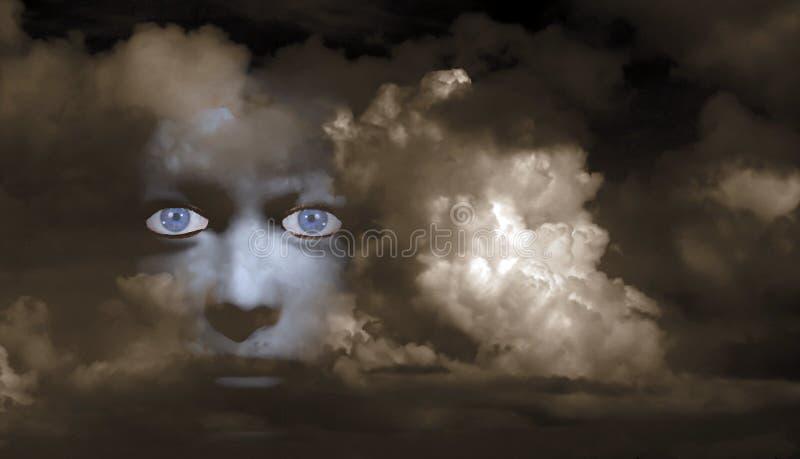 Mystisches Gesicht lizenzfreies stockbild