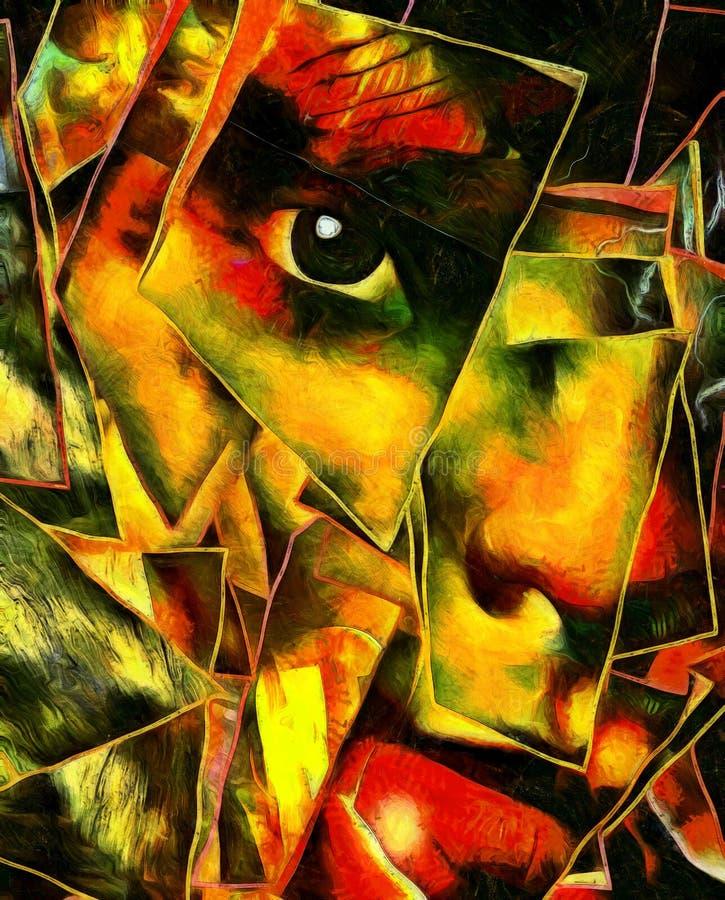 Mystisches Gesicht lizenzfreie abbildung
