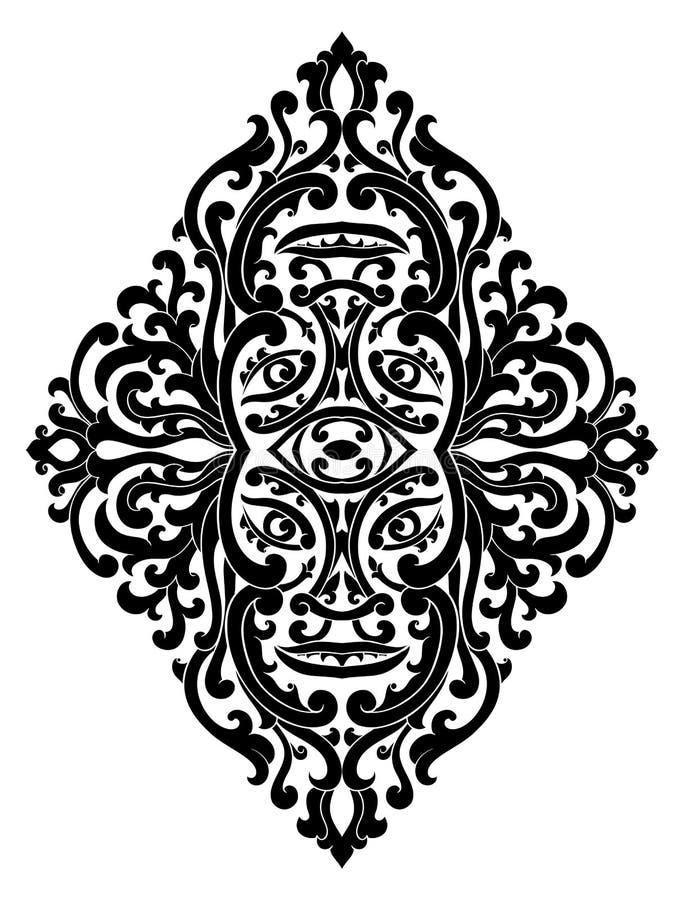 Mystisches Medaillon für Entwurf vektor abbildung