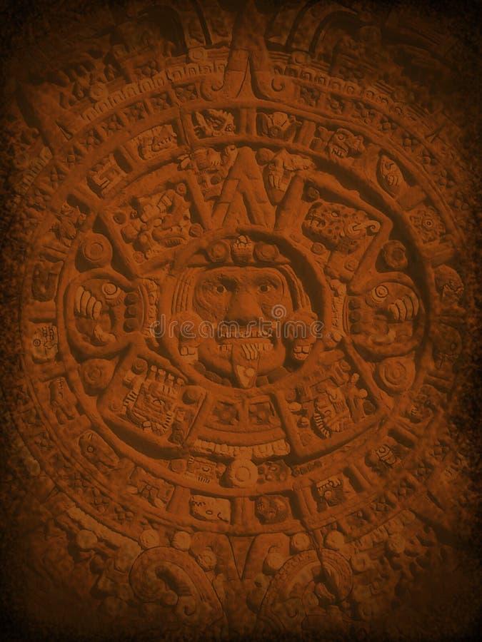 mystisk aztec bakgrund stock illustrationer