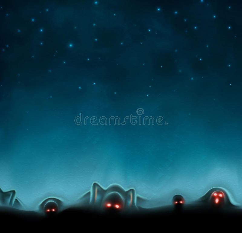 Mystisk bakgrund stock illustrationer