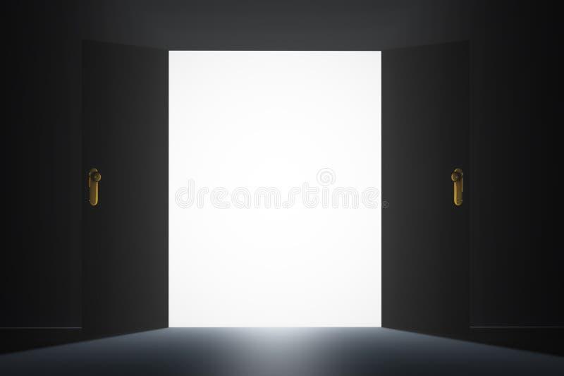 Mystisk dörr vektor illustrationer