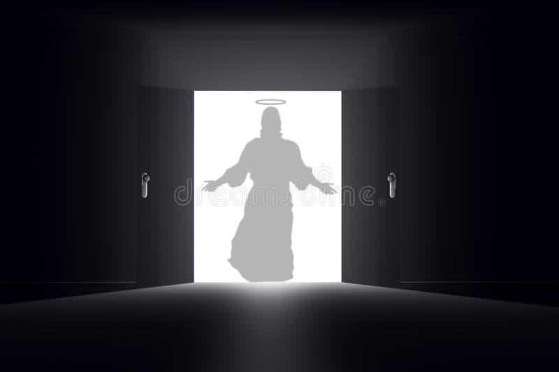Mystisk dörr 11 Jesus timme vektor illustrationer