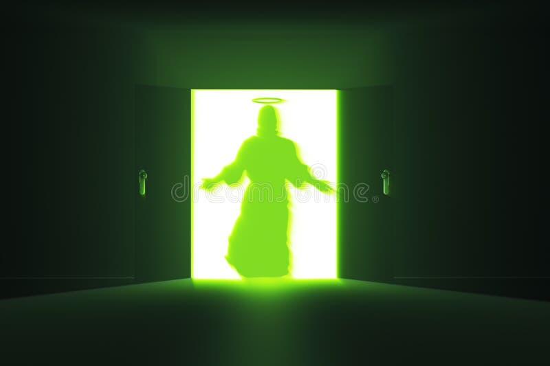 Mystisk dörr 13 Jesus timme vektor illustrationer