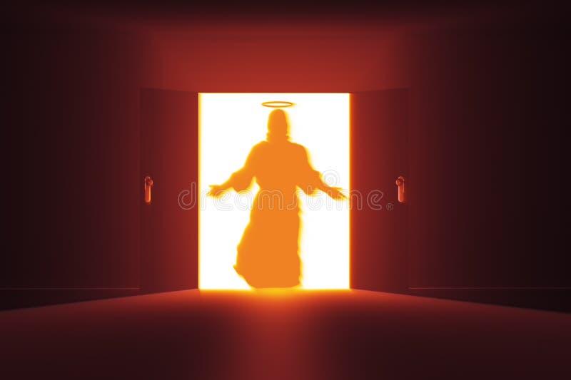 Mystisk dörr 15 Jesus timme vektor illustrationer