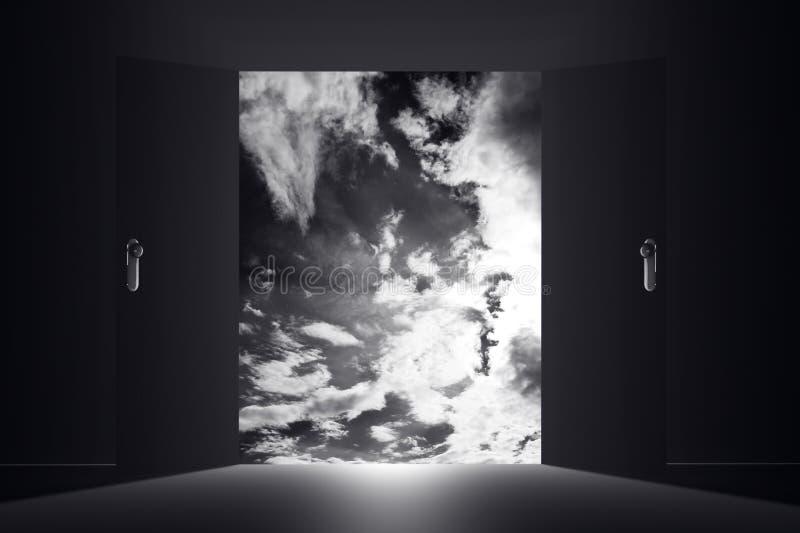 Mystisk dörrhimmel fördunklar 1 royaltyfri illustrationer