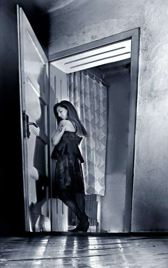 mystisk flicka royaltyfria foton
