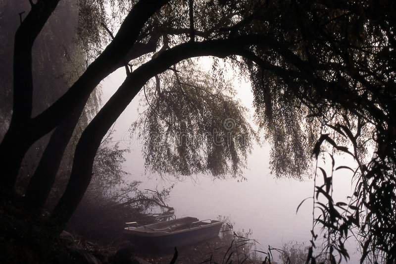 mystisk lake arkivfoto