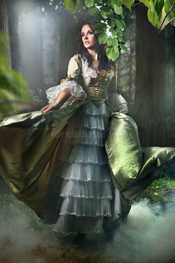 mystisk skog royaltyfria bilder