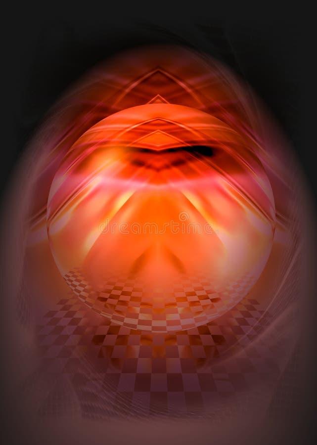 mystisk sphere 3 royaltyfri illustrationer
