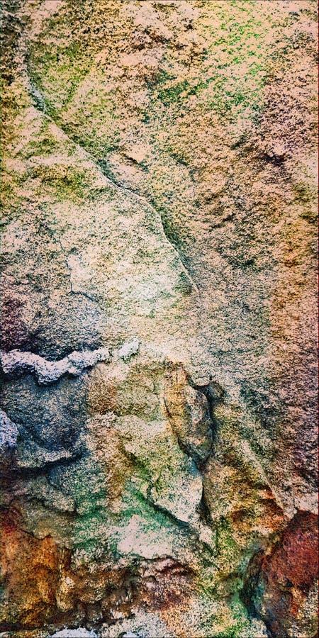 Mystisk str?m Texturen av den naturliga stenen Makro Bakgrund fotografering för bildbyråer