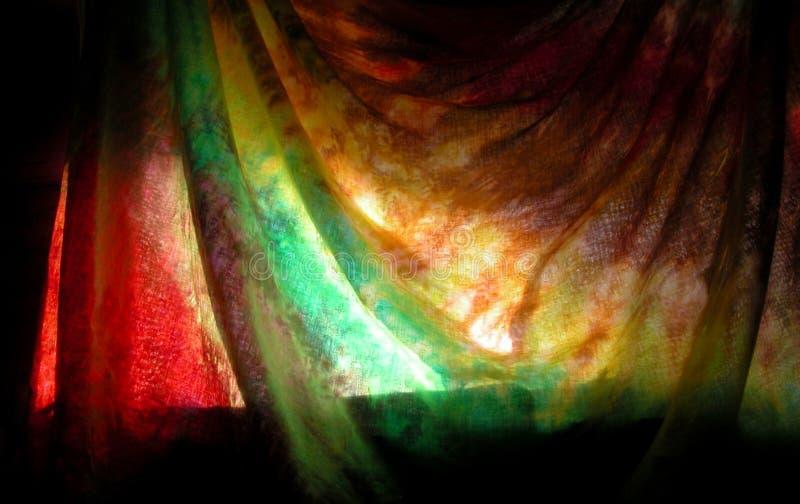 Mystisk tie färgad gardin royaltyfri foto