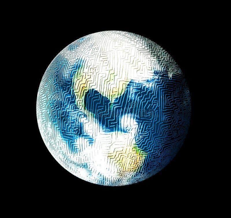 mystisk värld royaltyfri illustrationer