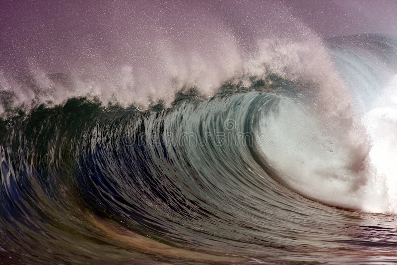 mystisk wave royaltyfria bilder