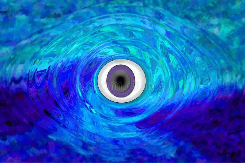 mystiskt öga vektor illustrationer