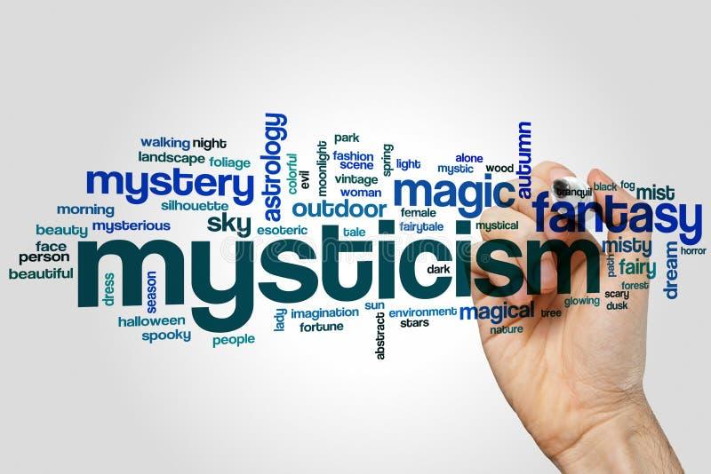 Mystizismuswortwolke stockbild