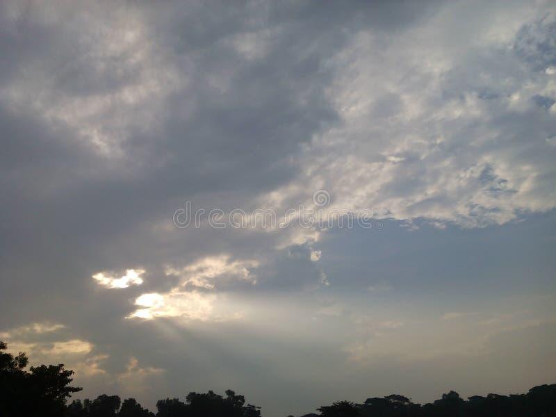 mystry的天空 库存图片