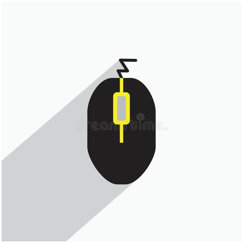 Mysz komputerów ilustracje lub ikony pojęcie ilustracji