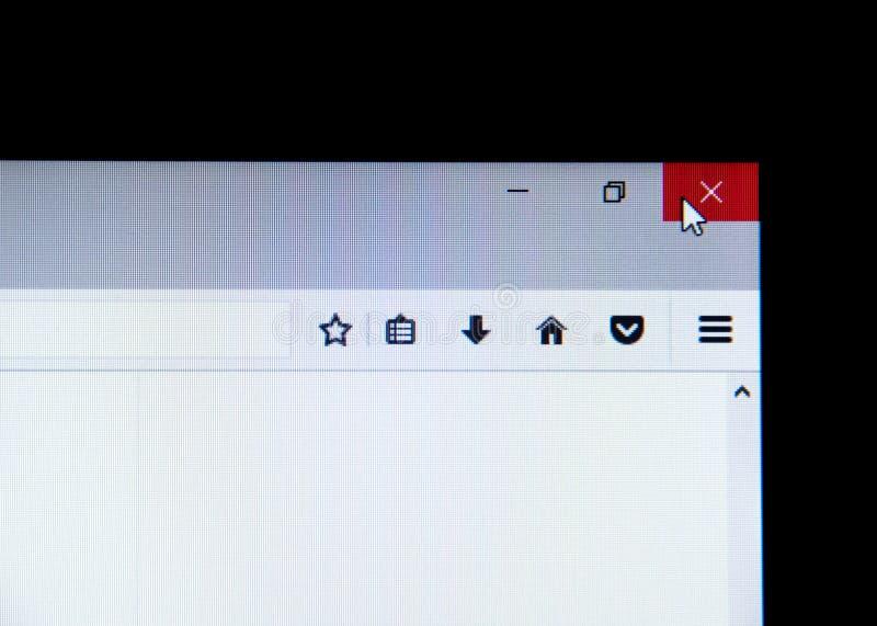 Mysz kursor na czerwieni X zdjęcie stock