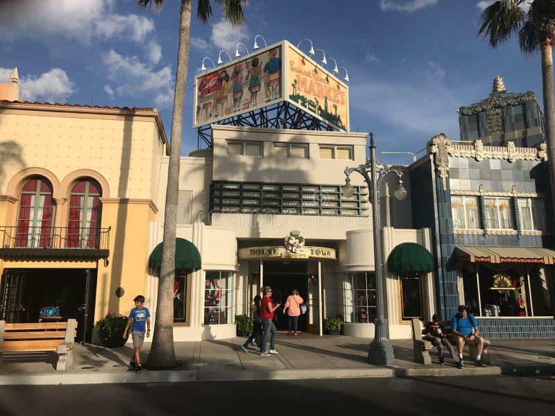 Mysz O miasteczku, Hollywood studia obraz royalty free