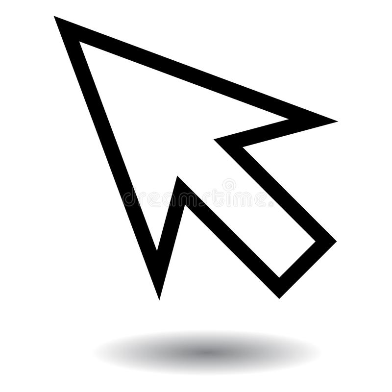 Mysz pointeru ikona na białym tle royalty ilustracja