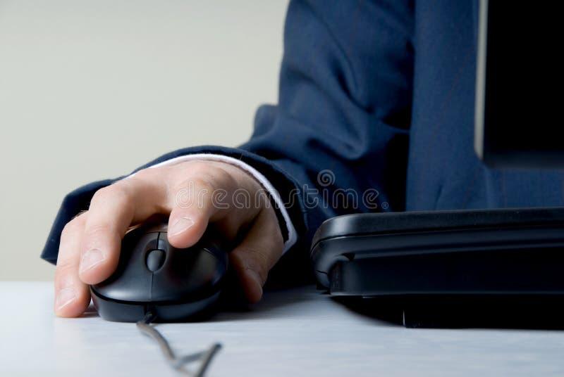 mysz ręce fotografia stock