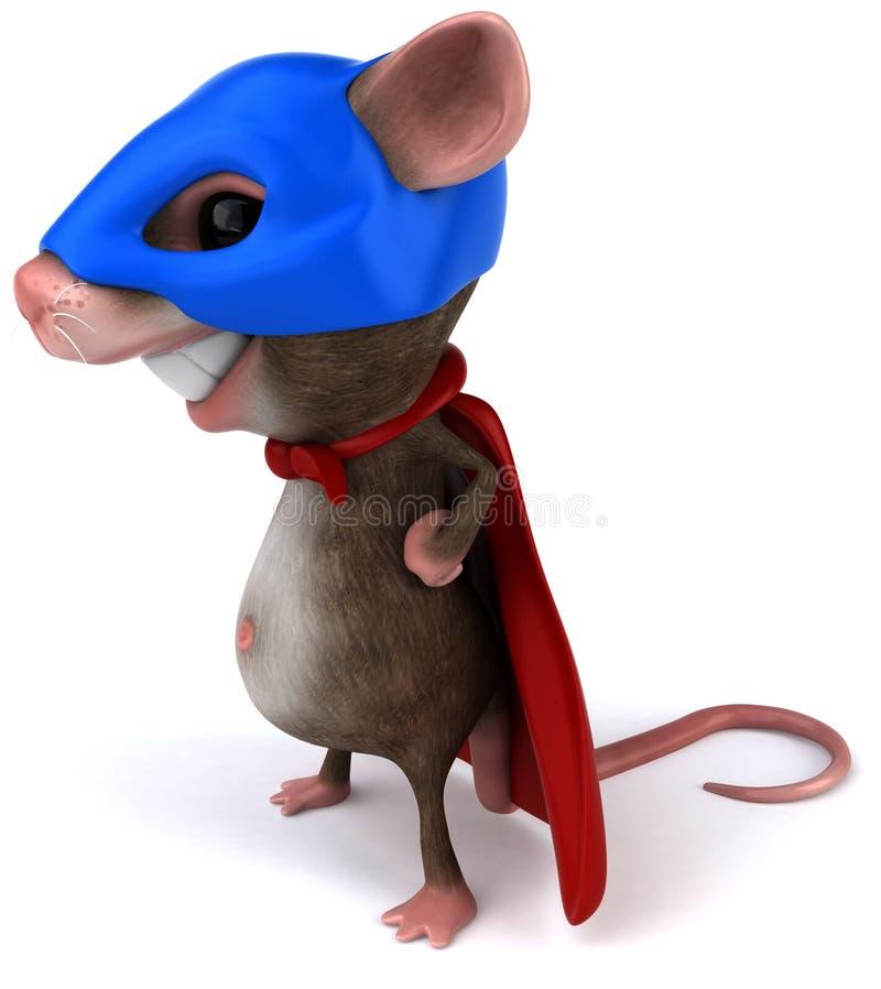 mysz super ilustracja wektor