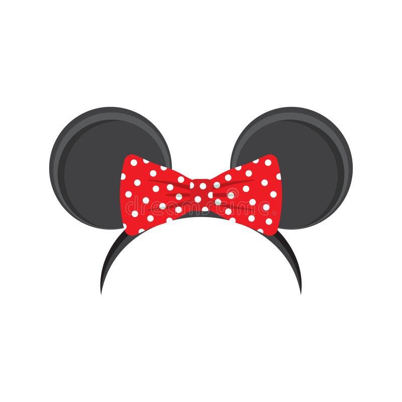 Mysz ucho kapitałka dla karnawału ilustracji