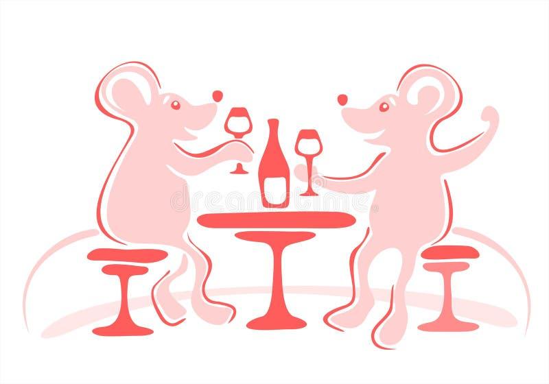 Download Mysz ucztę ilustracja wektor. Obraz złożonej z 0, świętuje - 3760874